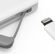 C100 power bank built in cable